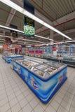 Продукты замерли супермаркетом, который стоковое изображение