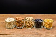 продукты, зерна и хлопья земледелия Стоковое Изображение