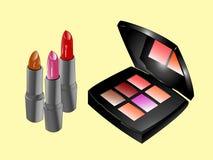 продукты косметик красотки Стоковое фото RF