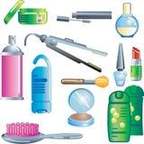 продукты косметик красотки бесплатная иллюстрация