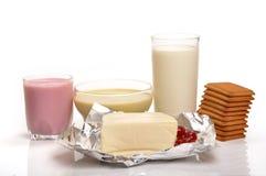 продукты молока стоковое изображение