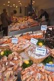 продукты моря дисплея Стоковое фото RF
