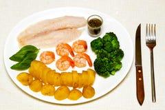 продукты моря еды Стоковые Изображения RF