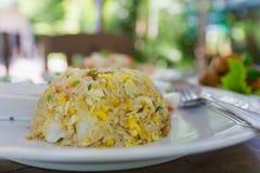 продукты моря зажаренного риса Стоковое Изображение RF