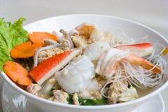 продукты моря лапши тайские Стоковые Фото