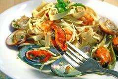 продукты моря макаронных изделия Стоковое Изображение RF