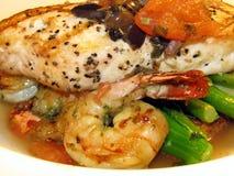 продукты моря обеда Стоковое фото RF