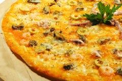 продукты моря пиццы Стоковые Изображения RF
