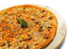 продукты моря пиццы Стоковая Фотография RF
