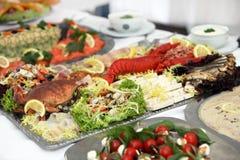 продукты моря плиты рыб Стоковая Фотография RF