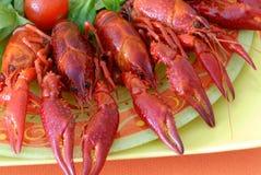 продукты моря плиты Стоковые Фото