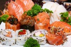 продукты моря плиты Стоковая Фотография
