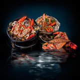 Продукты моря. Подготовленные Shellfish. Стоковое Изображение RF