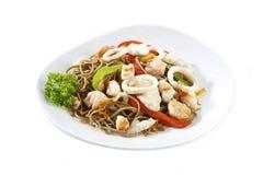 продукты моря салата макаронных изделия Стоковое Изображение RF