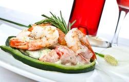 продукты моря салата Стоковые Изображения RF