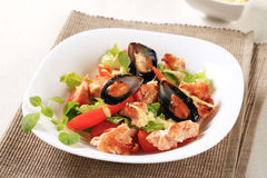 продукты моря салата Стоковое Фото