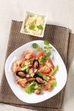 продукты моря салата стоковая фотография rf