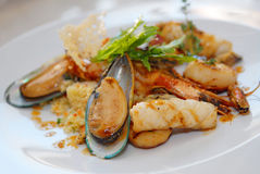 продукты моря салата Стоковое Изображение