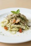 Продукты моря спагетти Стоковое Изображение RF