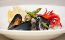 продукты моря тарелки шикарные Стоковые Фотографии RF
