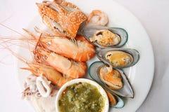 продукты моря тарелки Стоковое Изображение RF