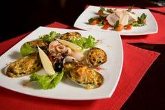 продукты моря тарелки Стоковое Изображение