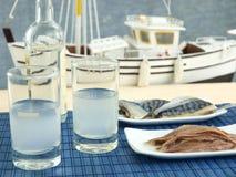 продукты моря ouzo Стоковая Фотография