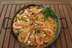продукты моря paella Стоковые Фотографии RF
