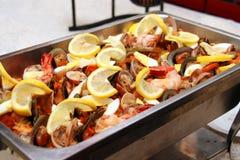 продукты моря paella Стоковые Изображения