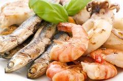продукты моря platte Стоковая Фотография RF