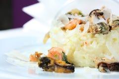 продукты моря risotto еды итальянские традиционные Стоковая Фотография RF