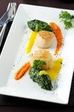 продукты моря scallop закуски стоковое фото