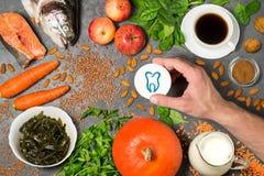 Продукты питания полезные для зубов Стоковая Фотография RF