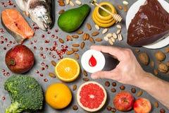 Продукты питания полезные для крови Стоковые Фото