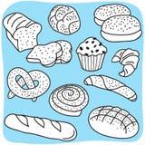 продукты хлебопекарни иллюстрация вектора
