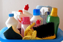 продукты чистки Стоковое Изображение