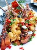 Продукт моря омаров Посоленная креветка стоковое изображение rf