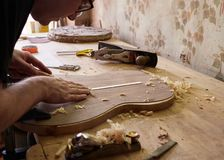 Продукция классической гитары стоковые изображения