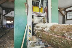 Продукция на лесопилке стоковое фото