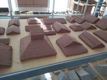 Продукция студента _крыши глины модельная стоковые изображения rf