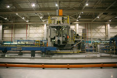 продукция фабрики самолета стоковая фотография