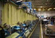 продукция фабрики самолета стоковое изображение