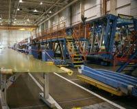 продукция фабрики самолета стоковое фото rf