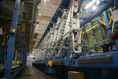 продукция фабрики самолета стоковое изображение rf
