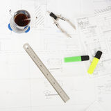 проектировать необходимые инструменты Стоковое Фото