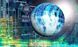 Проектировать промышленную конструируя интернет-связь стоковая фотография rf