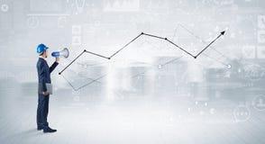 Проектируйте держать план и положение с диаграммами, диаграммами и отчет о предпосылка Стоковая Фотография