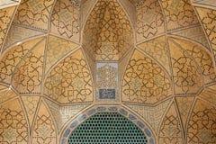 Проектная работа над дверью, isfahan, Ираном Стоковые Фото