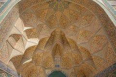 Проектная работа над дверью, isfahan, Ираном Стоковые Изображения RF