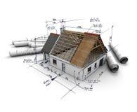 проект жилищного строительства Стоковое фото RF